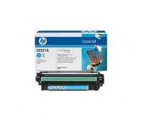 Картридж голубой HP Color LaserJet CP3520, CP3525, CP3525n, CP3525dn, CP3525x, CM3530, CM3530fs ,оригинальный
