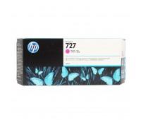 Картридж пурпурный HP 727 / F9J77A повышенной емкости для HP DesignJet T920 / T930 / T1500 / T1530 / T2500 / T2530 (300МЛ.) оригинальный