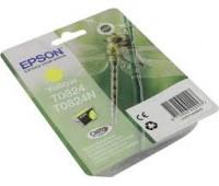 Картридж желтый Epson T0824 оригинальный